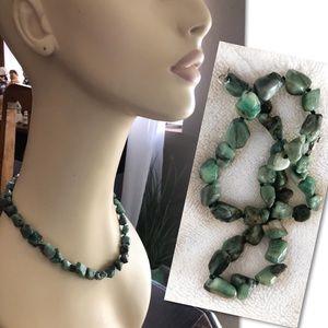 LUCAS LAMETH Sterling Silver 925 Emerald Necklace